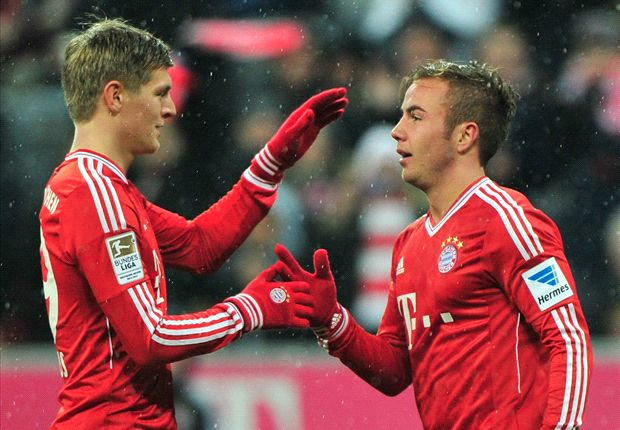 Bundesliga Team of the Week: Kroos & Gotze star for Bayern