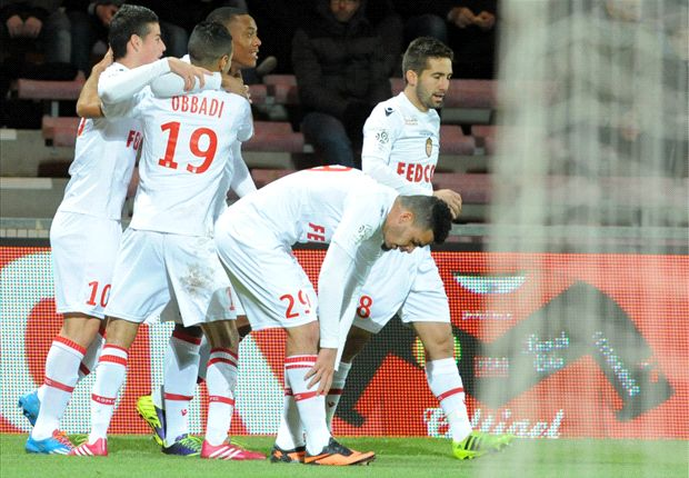 Guingamp 0-2 Monaco: Martial and Rodriguez keep Ranieri's men in title hunt
