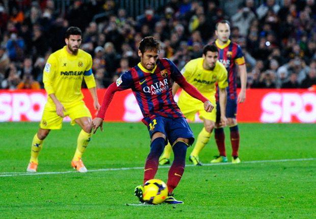 Barcelona 2-1 Villarreal: Neymar lights up Camp Nou