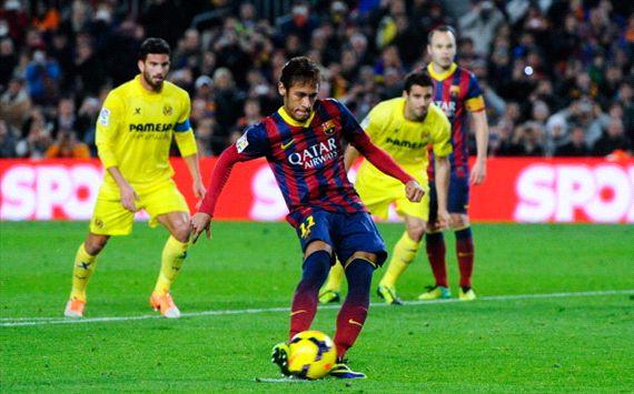 Neymar Barcelona Villarreal La Liga 12142013