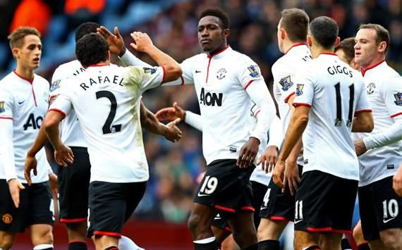 Rafael da Silva Danny Welbeck Aston Villa Manchester United Premier League