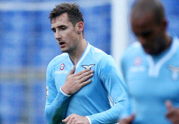 Miroslav Klose ist endlich zurück und feiert wieder für Lazio