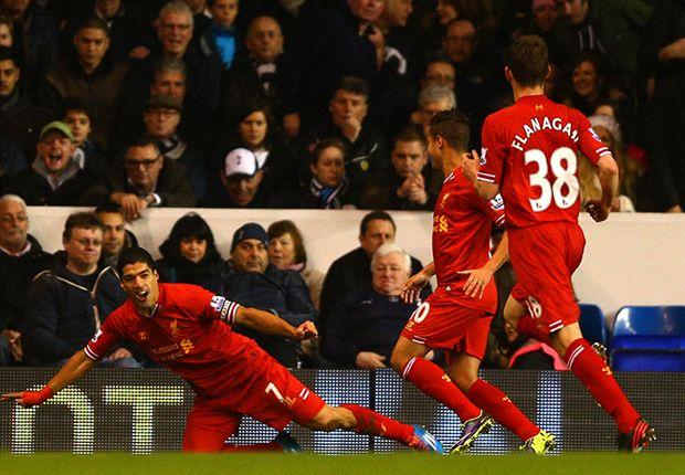 Tottenham 0-5 Liverpool: Suarez tears sorry Spurs asunder