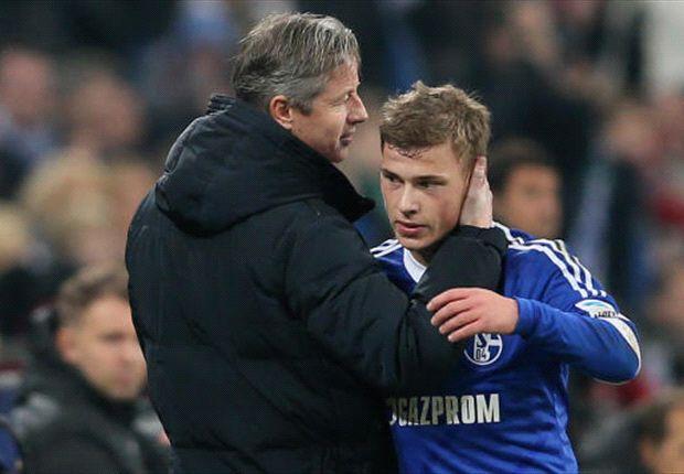 Schalke-Trainer Jens Keller freut sich auf das Kampfspiel bei Borussia Dortmund