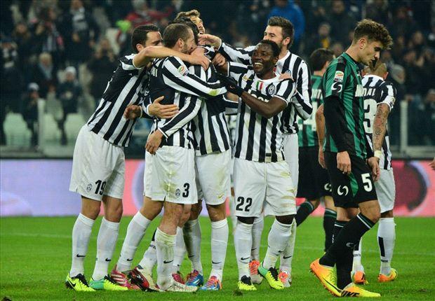 Juventus 4-0 Sassuolo: Tevez hat-trick restores Bianconeri pride