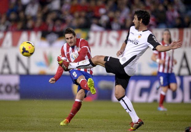 Imagen del último Atlético de Madrid - Valencia en el Calderón
