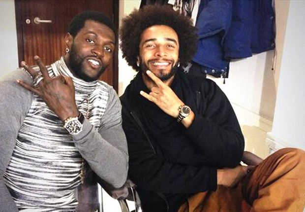 'What a game' - Adebayor & Assou-Ekotto pose for picture after Tottenham drubbing