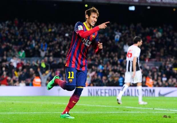 Neymar reaparece tras perderse el último encuentro de 2013