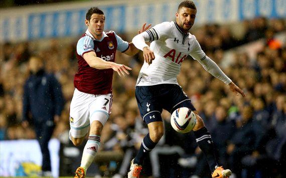 Kyle Walker Tottenham Hotspur v West Ham United - Capital One Cup Quarter-Final