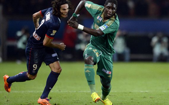 Edinson Cavani Mustapha Bayal Sall Paris SG Saint-Etienne Coupe de la Ligue 121822013