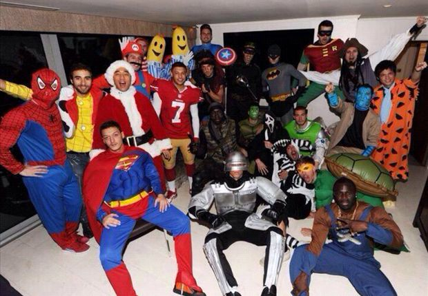 Extra Time: Arsenal stars dress up as superheroes for Christmas party