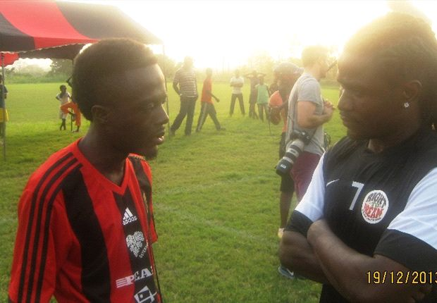 Laryea Kingston with Goal's Gyimah