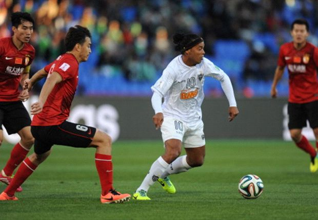 Ronaldinho in action in the Club World Cup.