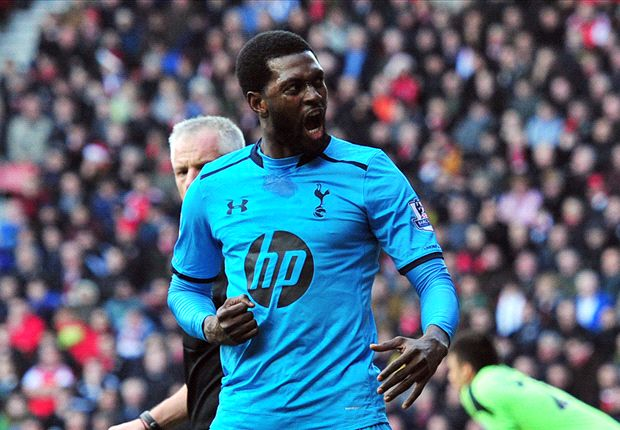 Arsenal won't relish facing Adebayor, warns Sherwood