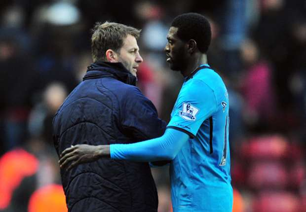 Adebayor has never been a problem for me, insists Sherwood