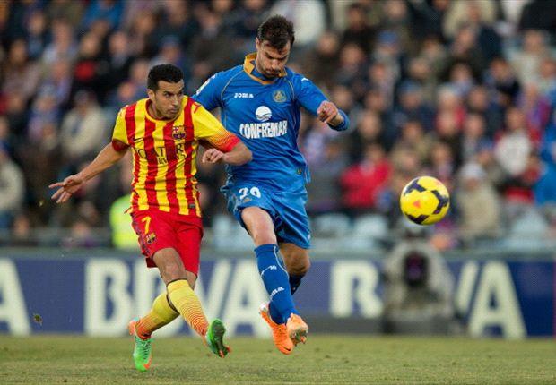Getafe 2-5 Barcelona: Pedro scores hat-trick in stunning comeback