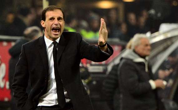Milan coach Massimiliano Allegri;