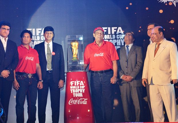 World Cup trophy arrives in India
