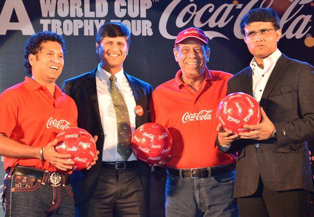 Ganguly (far right): Kolkata is heart of Indian football
