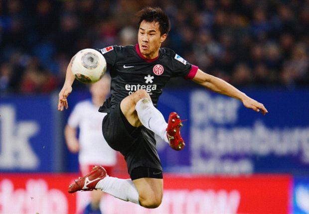 Okazaki saat ini merumput bersama Mainz