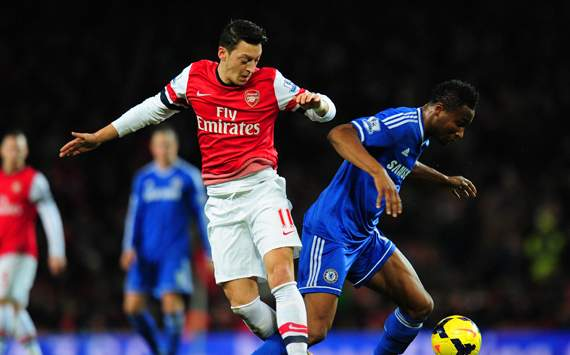 Mesut Oezil  John Obi Mikel Arsenal  Chelsea  Premier League 12232013