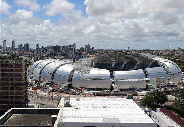 El Estadio Das Dunas, en Natal. Brasil está atrasado con las obras y Blatter se queja...