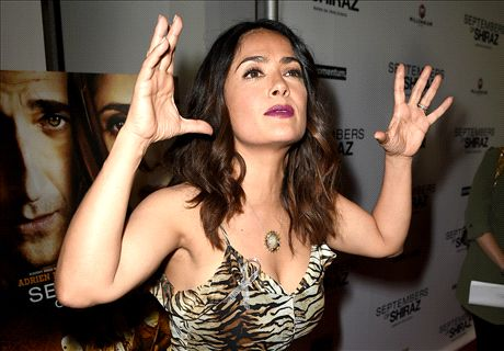 VIDEO: Salma Hayek's football passion