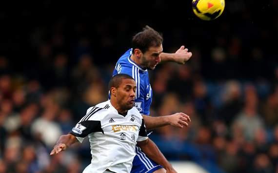 Branislav Ivanovic Wayne Routledge Chelsea v Swansea City - Premier League 12262013
