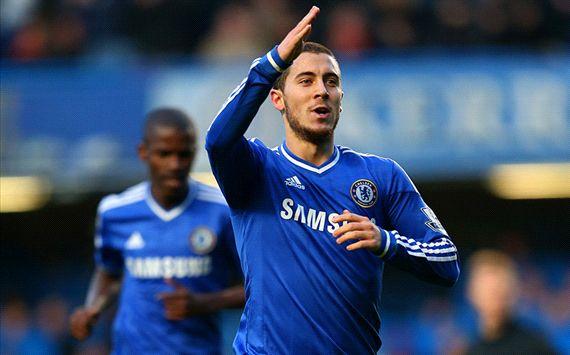 Eden Hazard Chelsea v Swansea City - English Premier League 12262013