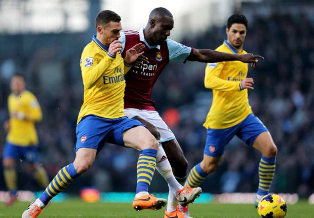 West Ham 1-3 Arsenal: Podolski scores on return to cap Walcott double