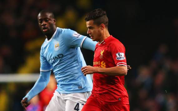Philippe Coutinho Yaya Toure Manchester City v Liverpool - Premier League 12262013