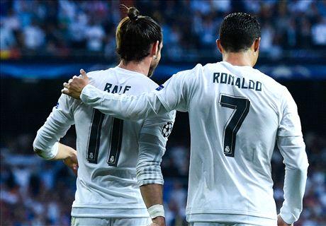 Abanderados en la fiesta del Real Madrid