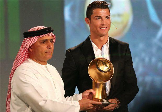 Cristiano recibió recientemente el Globe Soccer 2013
