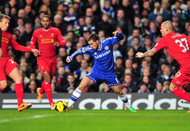 Hazard was in dazzling form against the Reds.