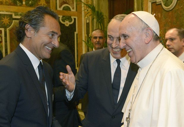 Prandelli meets Pope Francis back in August