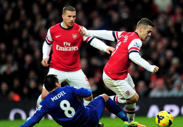 Arsenal 2-0 Cardiff: Bendtner & Walcott keep Gunners top with vital late goals