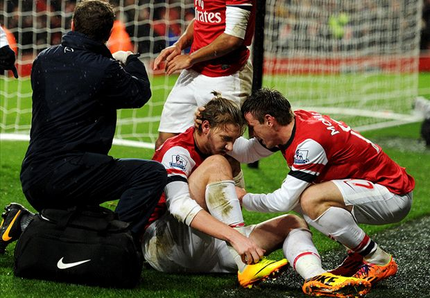 Bendtner ruled out for up to six weeks with ankle injury