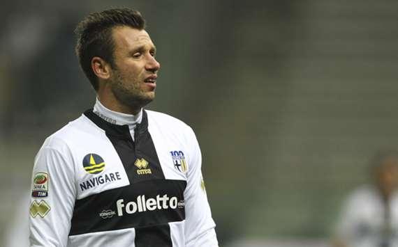 Parma's Antonio Cassano.