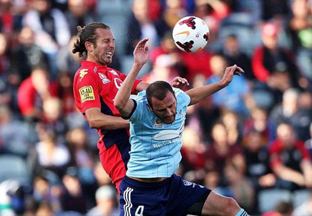 Adelaide United 2-2 Sydney FC: Corey Gameiro earns a point for 10-man Sydney