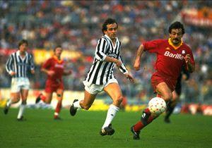 Michel Platini - Emidio Oddi - As Roma Vs Juventus in Serie A 111980