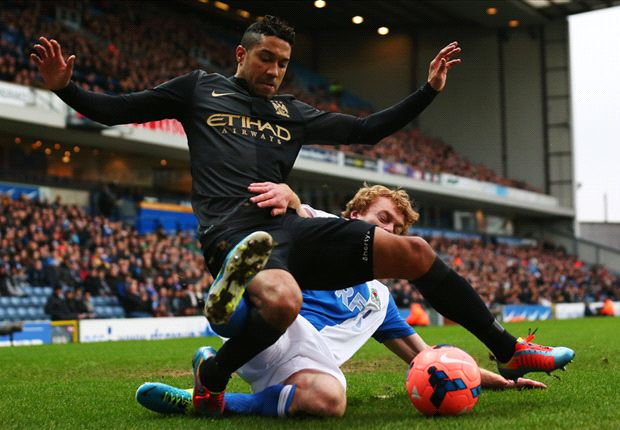 Blackburn 1-1 Manchester City: Petulant Boyata sees red as Rovers force replay