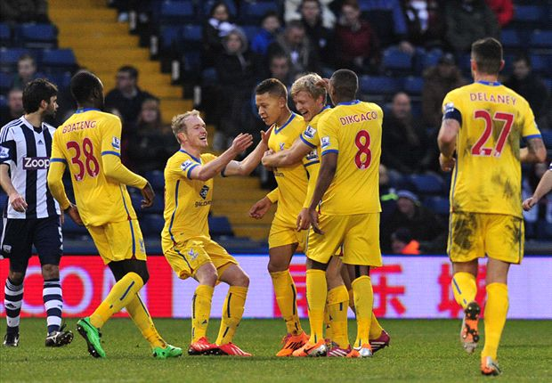 West Brom 0-2 Crystal Palace: Gayle and Chamakh seal Eagles progress