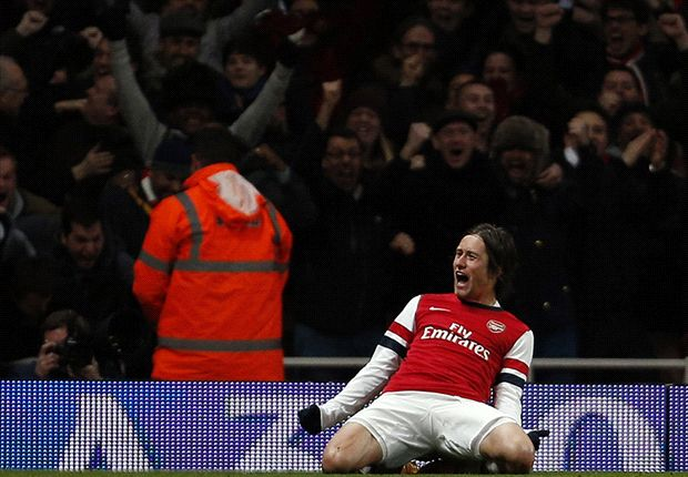 Rosicky's winner, a Toffee spanking & Lambert gets his wish: The FA Cup third round in pictures