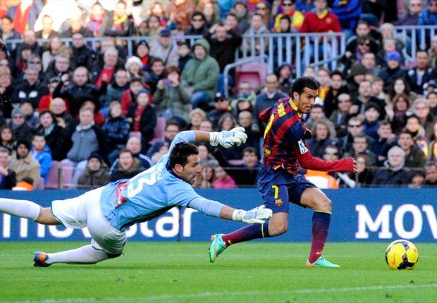 Pedro convirtió el segundo gol de Barcelona.