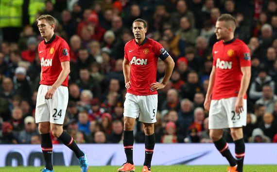 Darren Fletcher Rio Ferdinand Manchester United Swansea City FA Cup 05012014