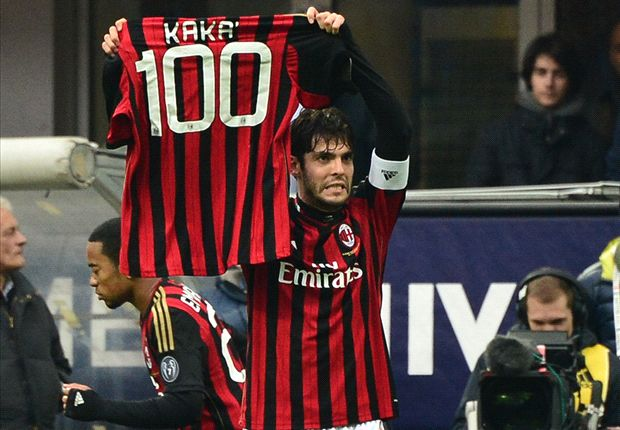 Kaka scores 100th AC Milan goal against Atalanta