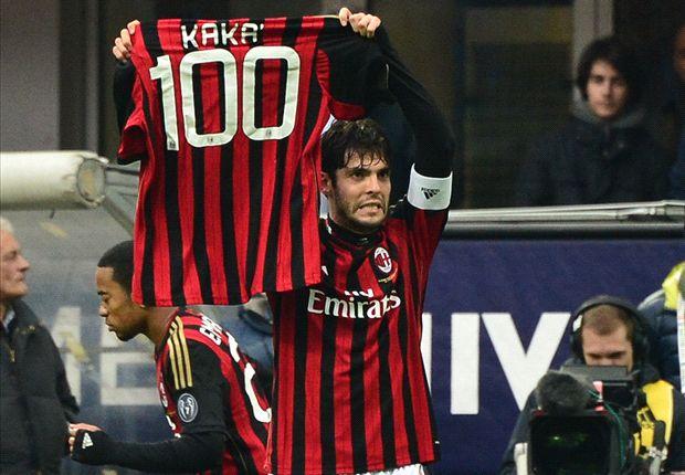 Kaka scores 100th AC Milan goal against Atalanta