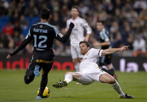 Xabi Alonso durante el partido ante el Celta de Vigo