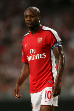 Comeback King: Arsenal captain William Gallas continues his trend of scoring late goals for his side, equalising at the death in the Champions League against Dinamo Kiev.