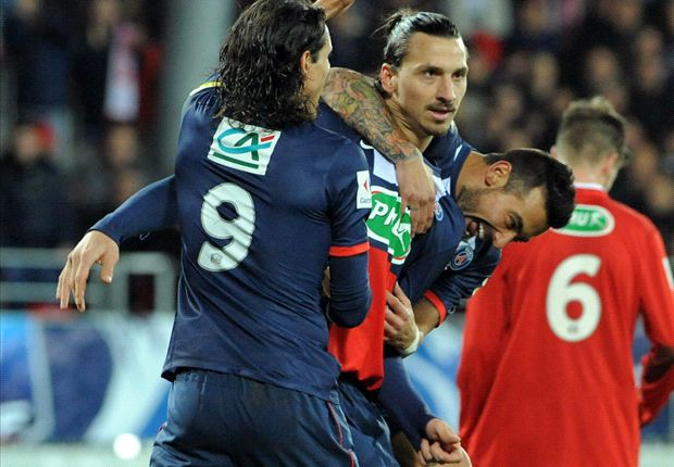 Brest 2-5 Paris Saint-Germain: Ibrahimovic hat-trick helps brush aside hosts